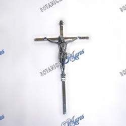 crucifijo de acero inoxidable 9""