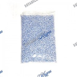 1 lb blue and white beads - Cuentas azul y blancas