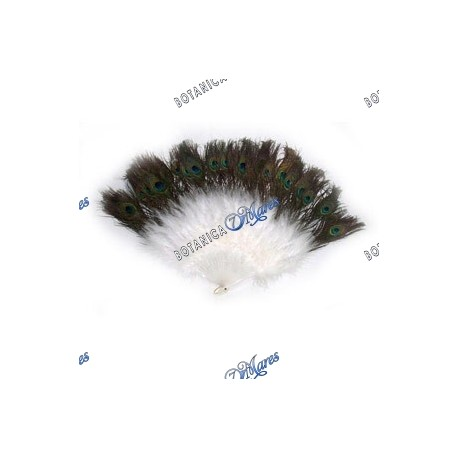 <p>Peacock feather fan</p>