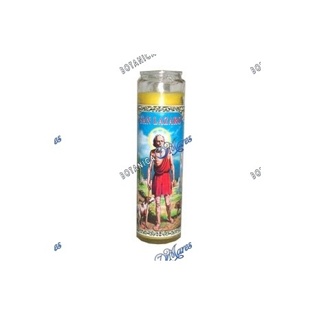 <p>Prayer candle for Saint Lazarus - Vela con oracíon para San Lazaro</p>