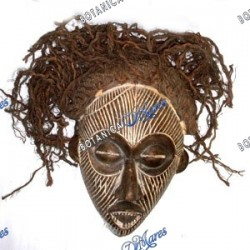 Large Hand Made Yoruba Mask