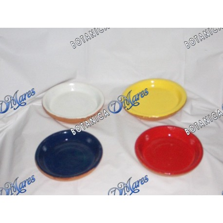 "Plato de Barro Pintados, (Set of 4) 4""W X 1""H"