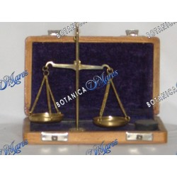 Brass Scale with Weights