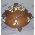 Small Clay Nanu Pot With Cowry Shells