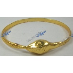 Ochumare Snake Biting Tail Bronze and Gold Filled 18K