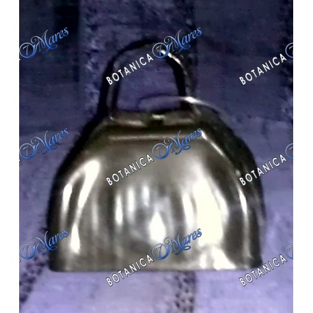 "<p>small metal  black cow bell 3""W  x 3"" H   </p>"