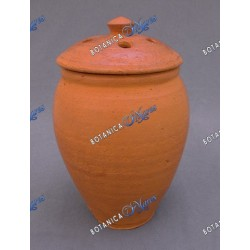 "Clay Jar for Nana Buruku Large 13""H x 7""W"