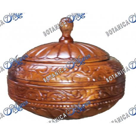 Large Batea for Shango With Carvings Light Color