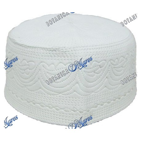 Prayer Embroidery Hat All White