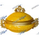 "Yellow & Gold Soup Tureen 14"" x 10"" x 9"""