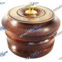 """Wooden Box for Orula brass inlays 4""""x3"""""""