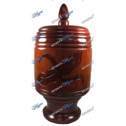 """Large Wooden Basin For Agallu 17"""" x 8"""""""