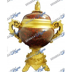 """Wine and Gold Urn - 13.5"""" x 11.5"""" x 6.5"""""""