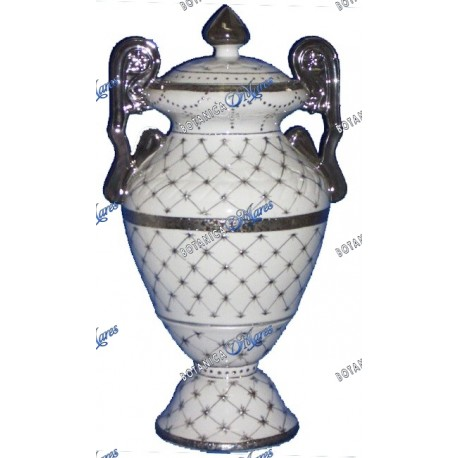 Porcelain Jar with Silver Band for Obbatala