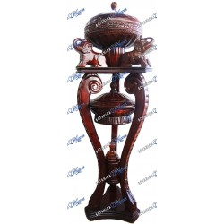 Shango Large One Piece Basin With Stand 5ft Dark Color