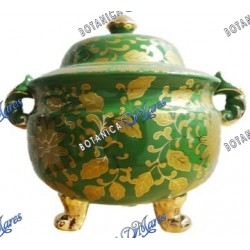"Soup Tureen for Inle Porcelain 3 patas 10.5""H 12""W"