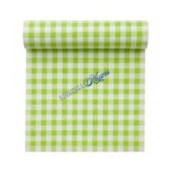 Green Gingham Cotton Fabric by Yard