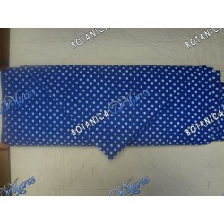 Blue Cotton Fabric with White Balls by Yard