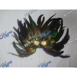 Feather Mask Yellow and Green Base