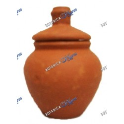 "Small Clay Jar 3.5"" H X 3W"
