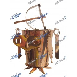 Copper Osun for Oya with Tools