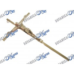Crucifijo color Bronce de 9""