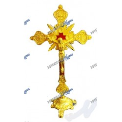 Crucifijo En Metal Color Bronce 12""