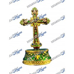 """Green Crucifix With Open Base 4.5""""H 3''W"""