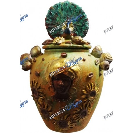 "Temple Jar for Oshun 10""H X 6 W"